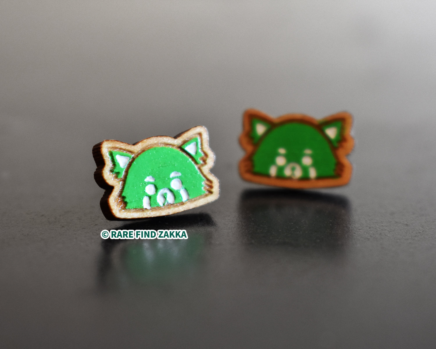 Handpainted Wooden Pierced Earrings - RFZ Panda