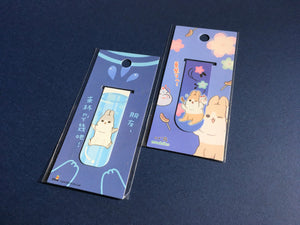 "Dutch Rabbit ""machiko"" Gold foil Magnetic Bookmarks (BLUE) 