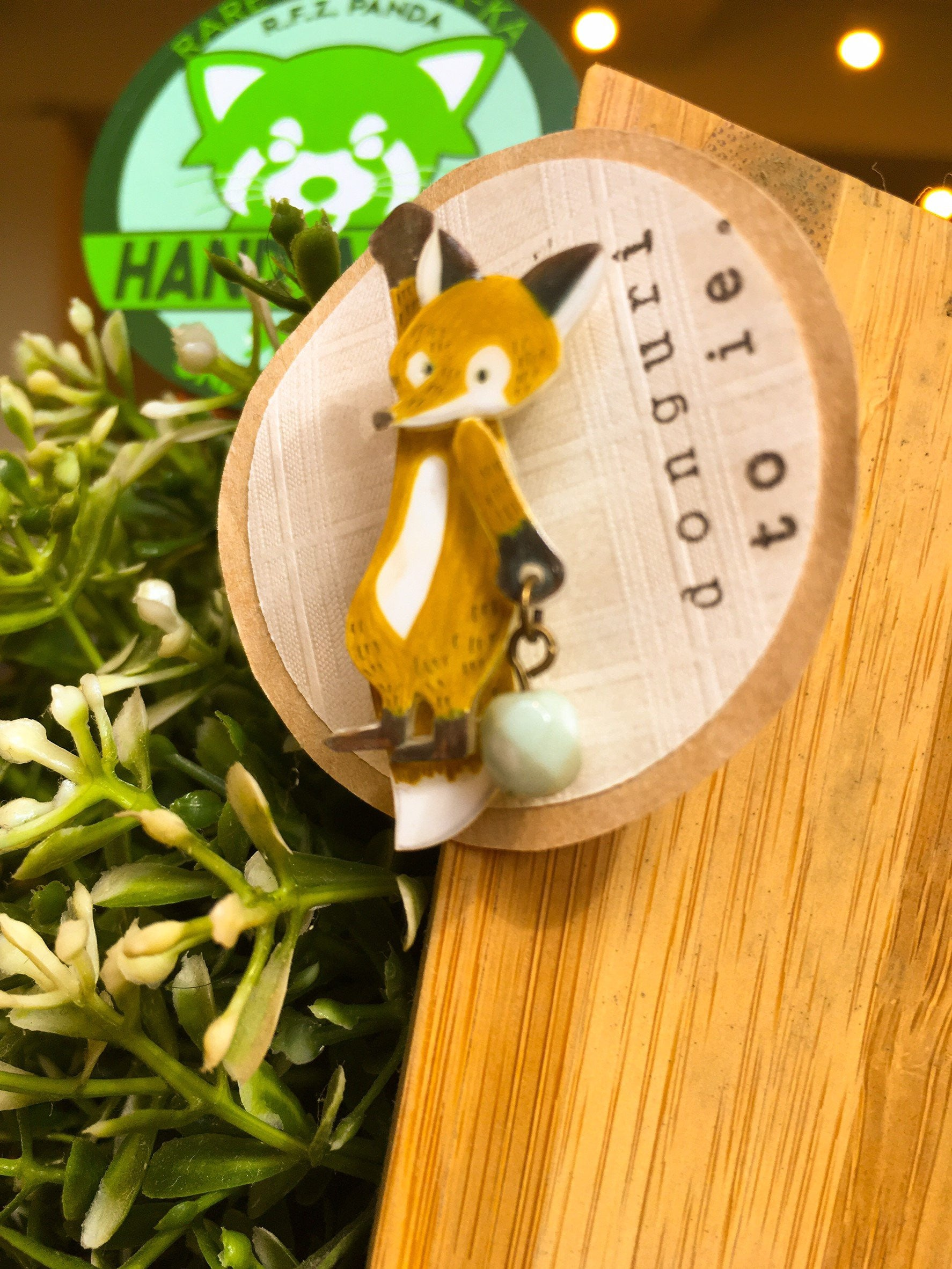 """The Hanging Fox"" Mini Brooch 