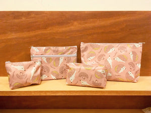 Northern European Style Cinnamon Pink Hedgehog Pouch Bags Set | RARE FIND ZAKKA