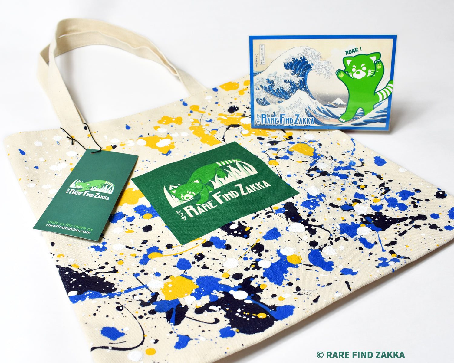 "RFZ ORIGINALS Canvas Tote Bag ""The Great Wave"" Limited Edition Set"