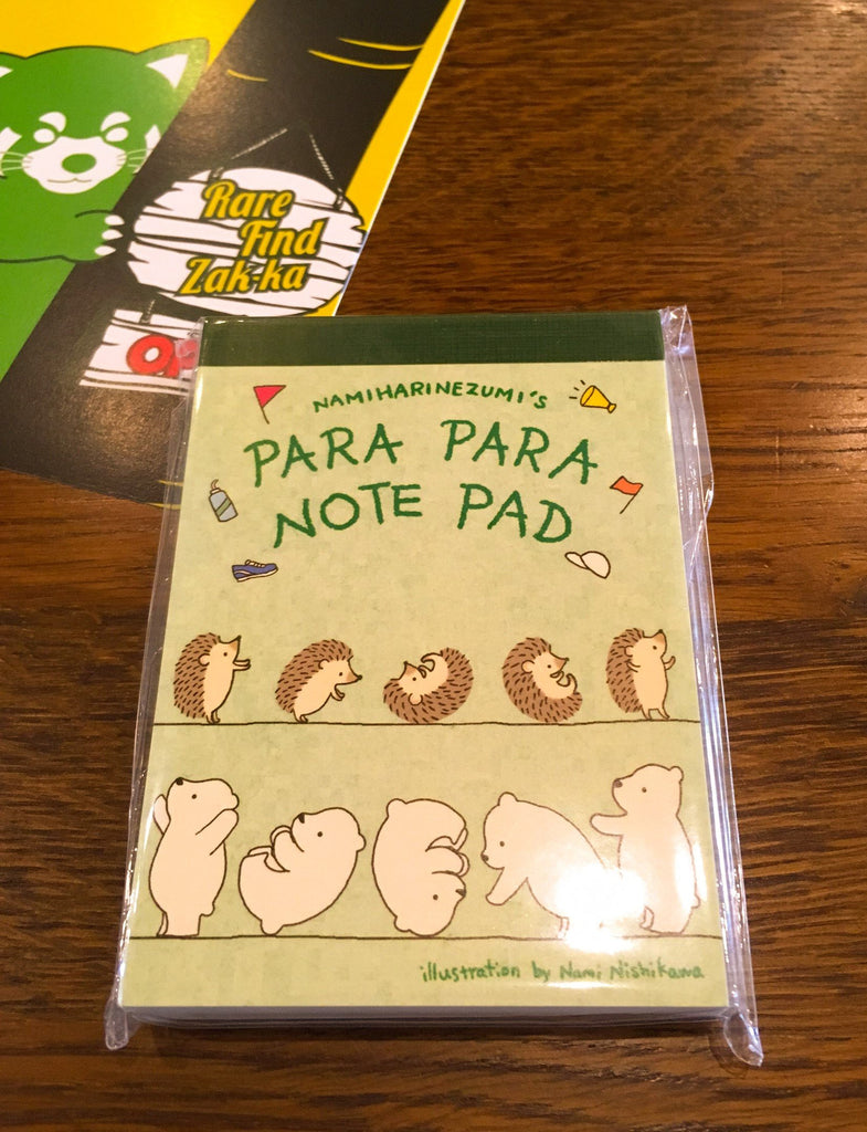 "Hedgehog and Polar Bear ""Somersault"" PARA PARA Notepad 