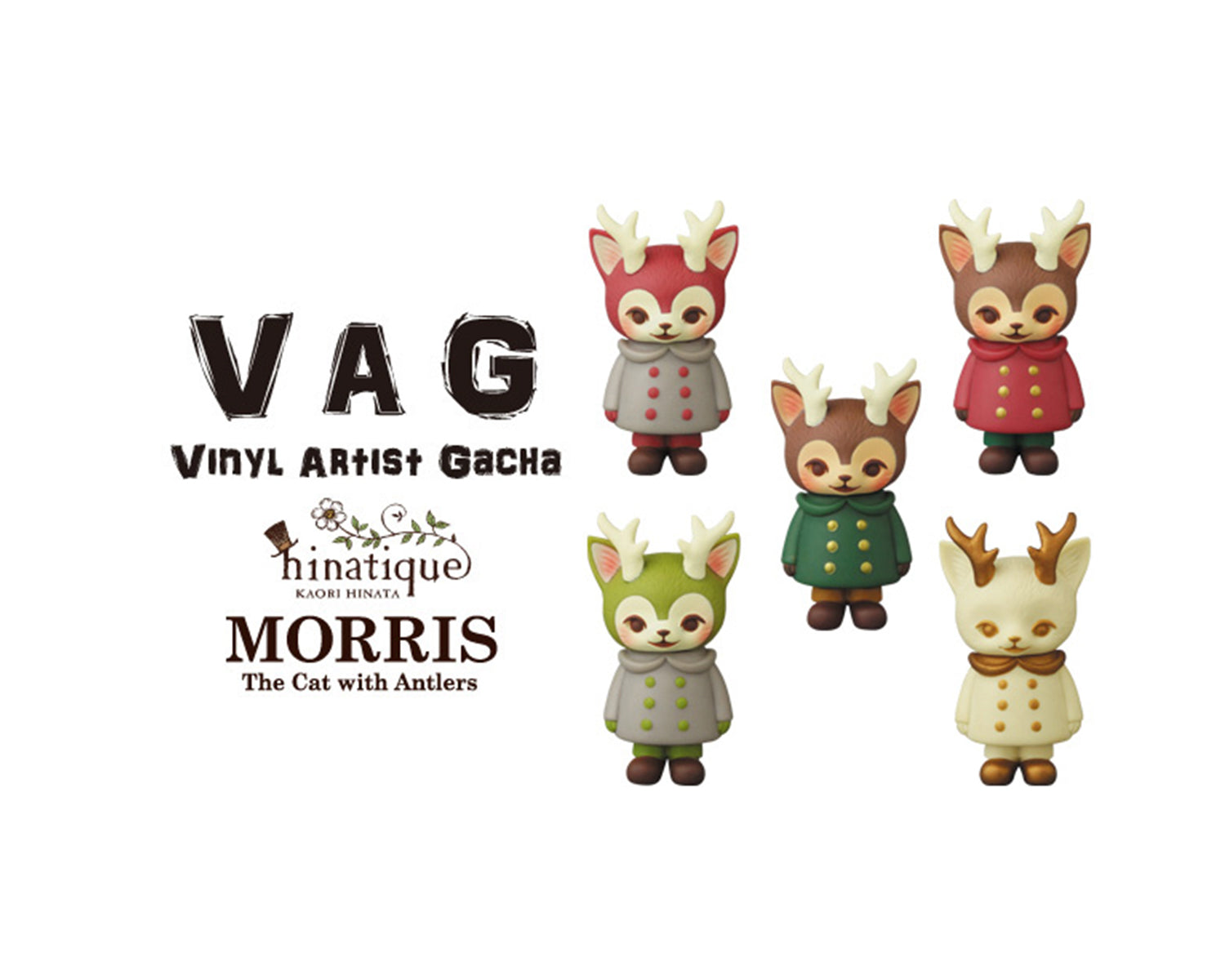 VINYL ARTIST GACHA(VAG) MORRIS, the cat with antlers Mini Figure [Limited edition]