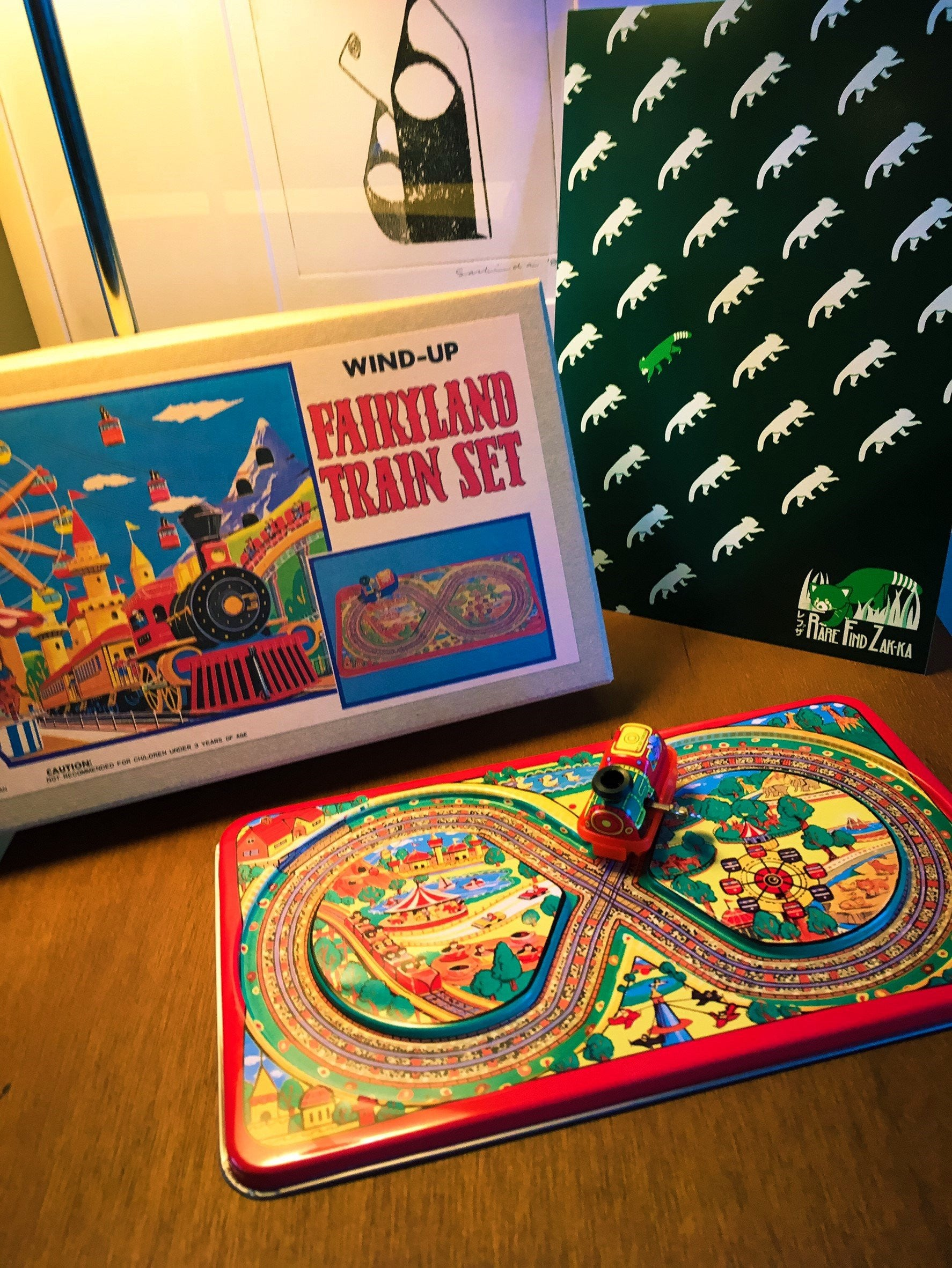 Vintage JAPAN Tin Toy Wind-Up Fairyland Train Set | RARE FIND ZAKKA