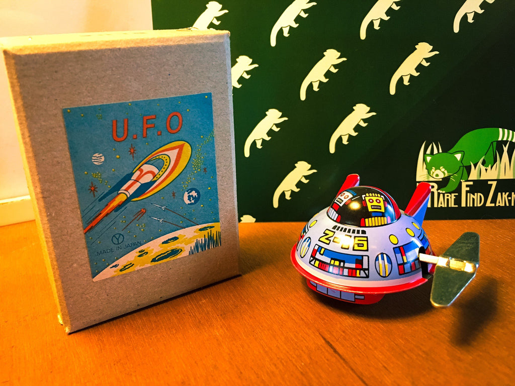 Vintage JAPAN Wind-Up U.F.O. Tin Toy | RARE FIND ZAKKA