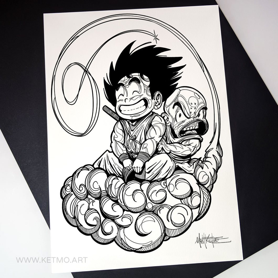 Goku, Krillin & the Flying Nimbus