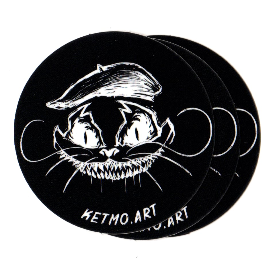Ketmo Evil Cat stickers (x3)