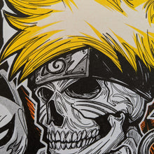 Load image into Gallery viewer, Skull Naruto Riso Print