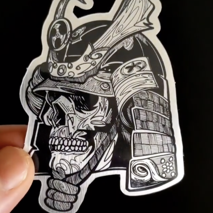 Samurai Skull Sticker
