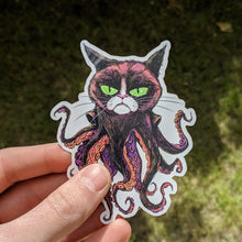Load image into Gallery viewer, Grumpy Octocat stickers (x3)