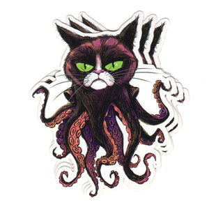 Grumpy Octocat stickers (x3)