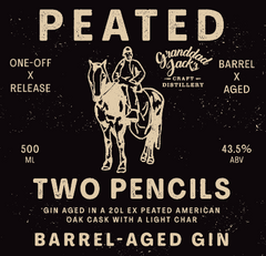 Peated Two Pencils Label