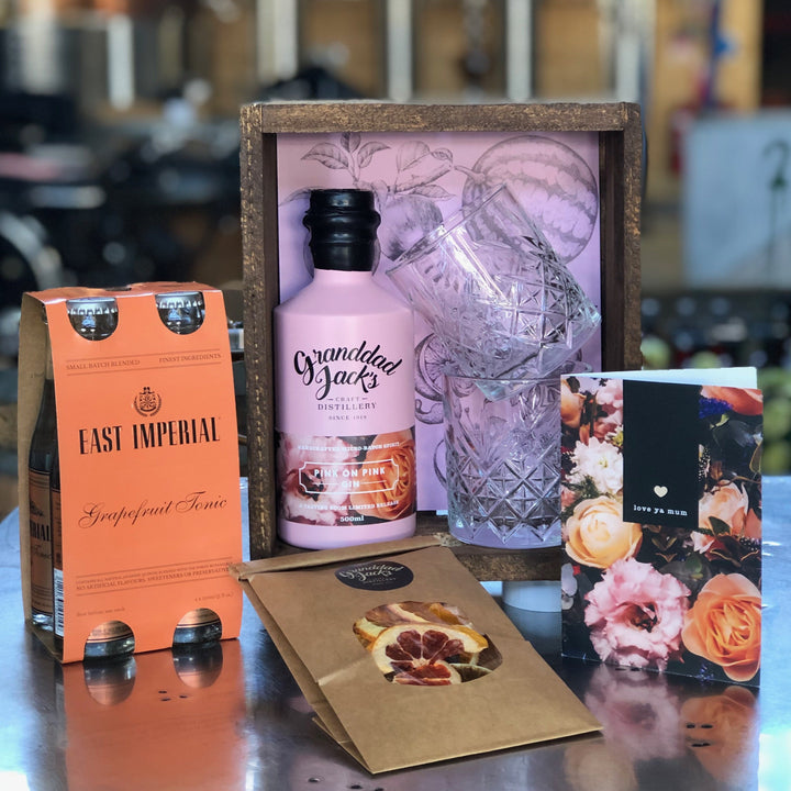 Pink on Pink Gin Gift Crate