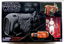 Load image into Gallery viewer, Star Wars The Black Series Rey's Speeder Vehicle with Rey Action Figure