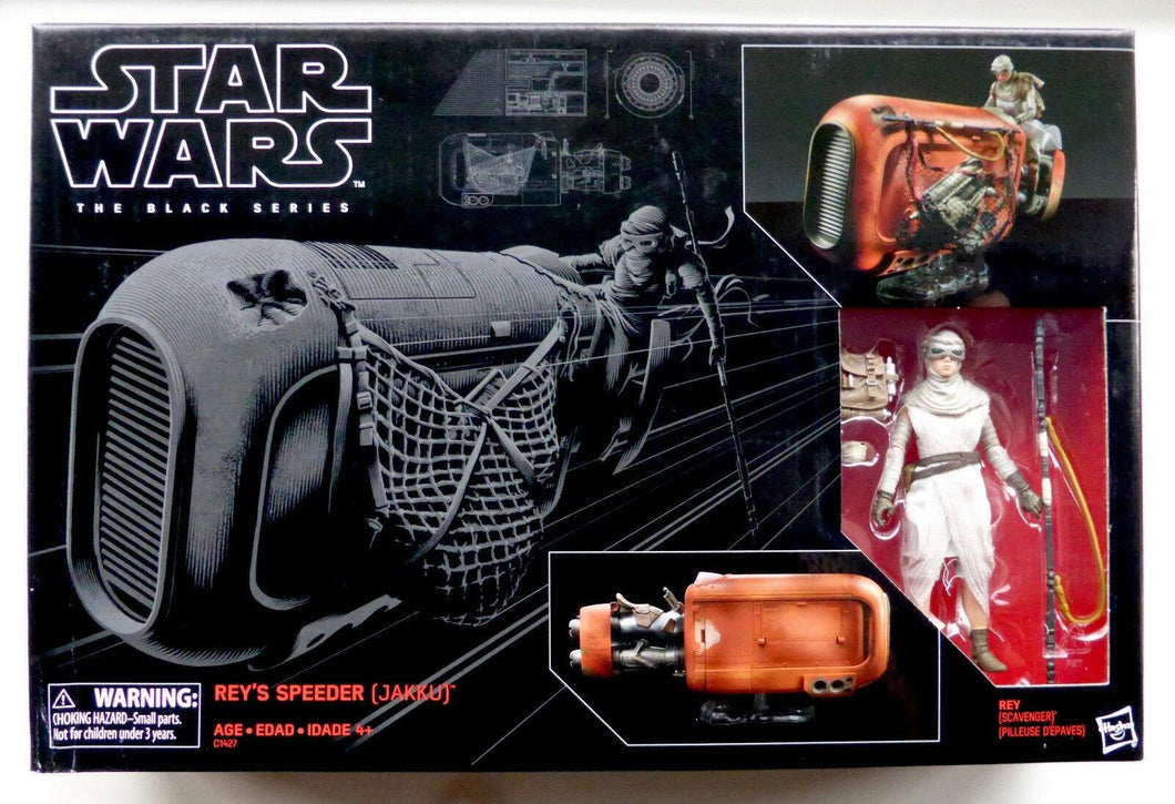 Star Wars The Black Series Rey's Speeder Vehicle with Rey Action Figure