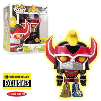 Funko Pop! Power Rangers Megazord Glow-in-the-Dark 6-Inch Pop! Vinyl Figure - Entertainment Earth Exclusive