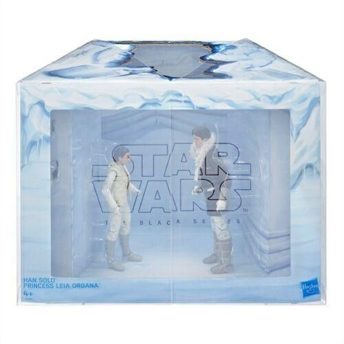 Star Wars The Black Series Hoth Princess Leia Organa and Han Solo 6-Inch Action Figures - Exclusive
