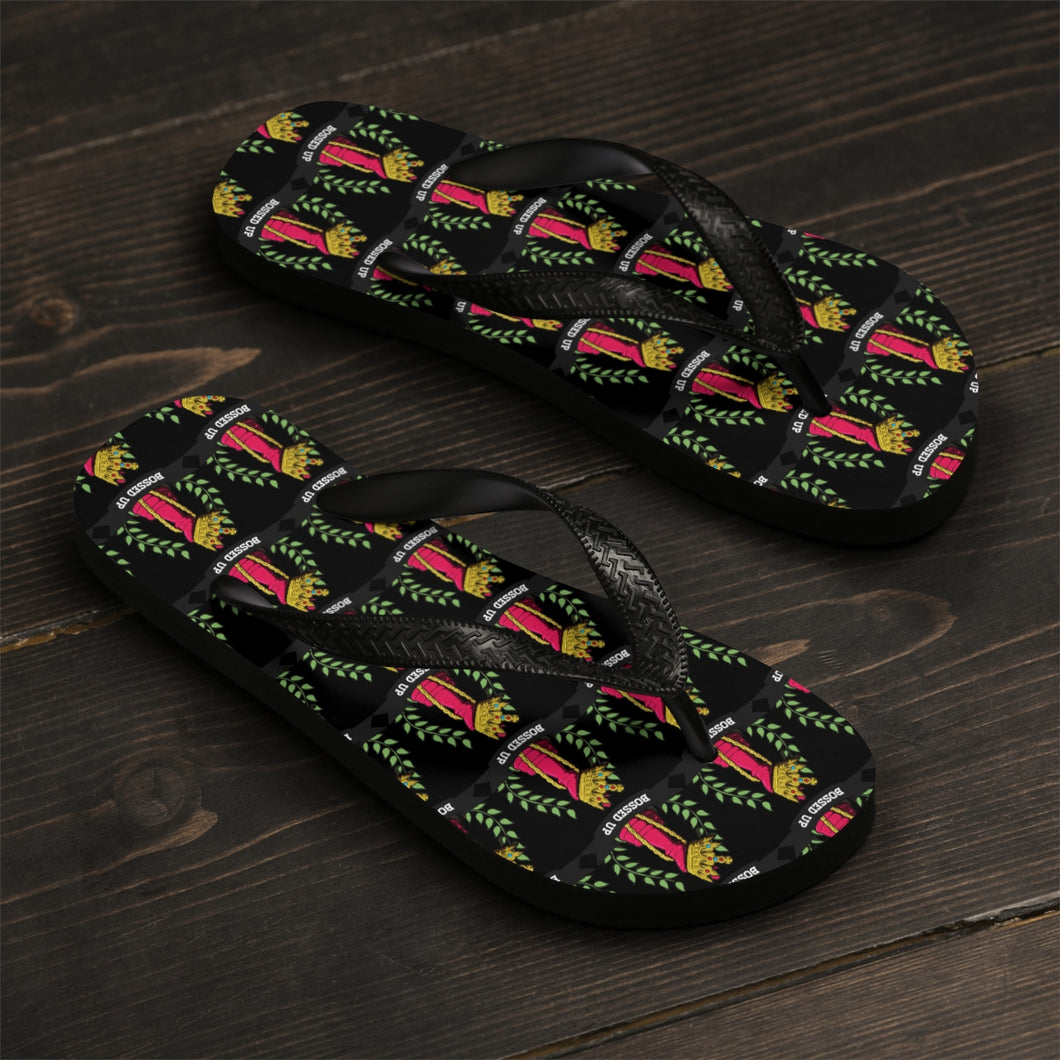 Bossed Up Unisex Flip-Flops - Bossed Up Productions LLC