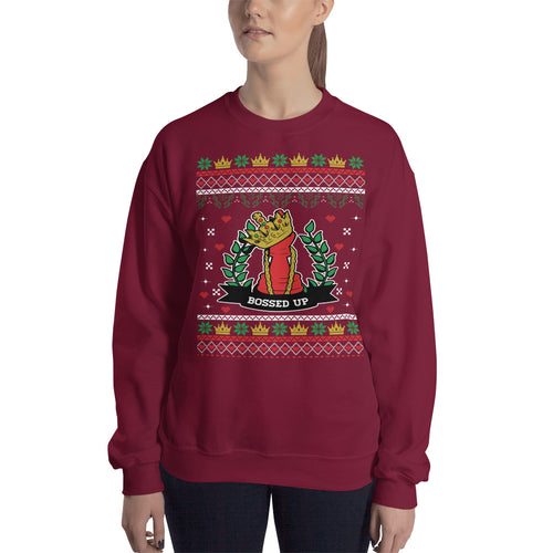 Ugly Christmas Crest Sweater - Bossed Up Productions LLC