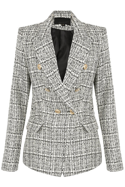 New Season Attentif Paris Remey Double Breasted Blazer in Black