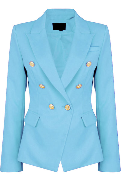 Dominique Sky Blue Double Breasted Blazer