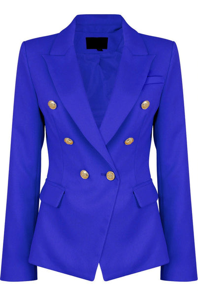 Dominique Royal Blue Double Breasted Blazer