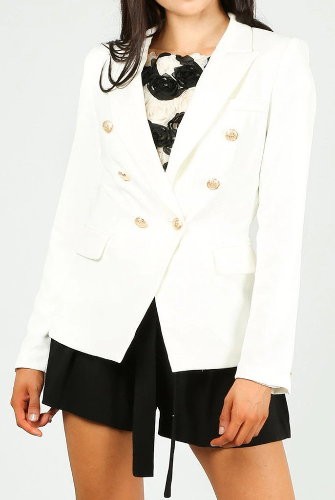 Dominique White  Double Breasted Blazer