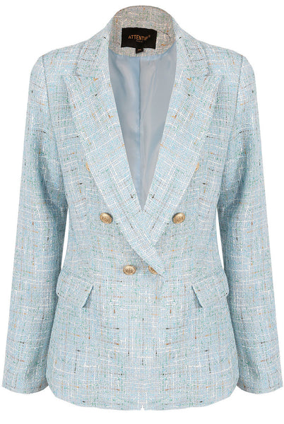 New Season Emily Multi Knitted Blazer in Blue
