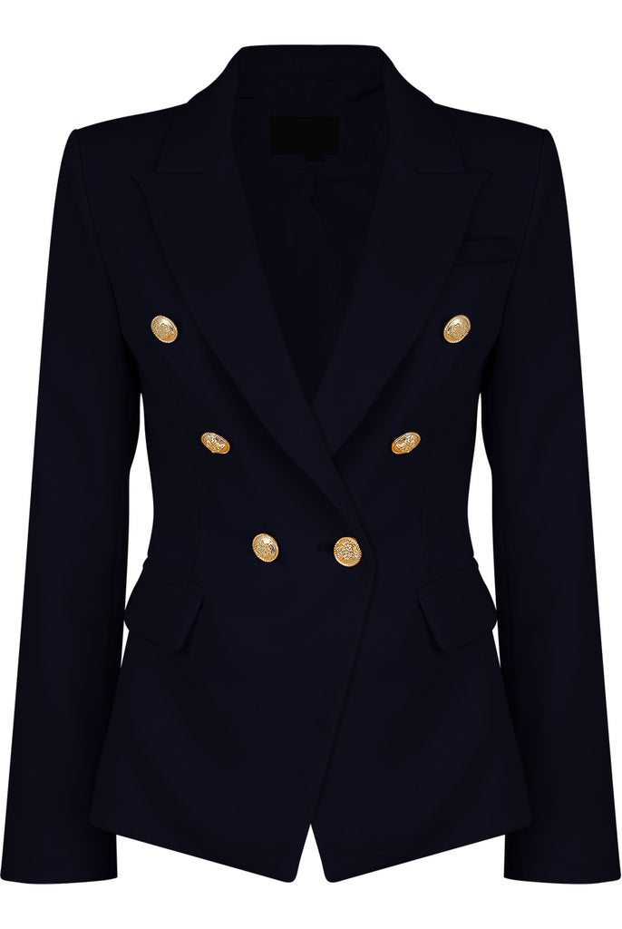 Dominique Navy Double Breasted Blazer