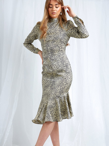 Florence Dress in Leopard Print