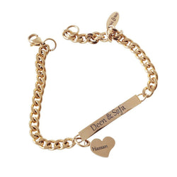 Personlized bracelet with love heart-Armband-Naïl & Naïs
