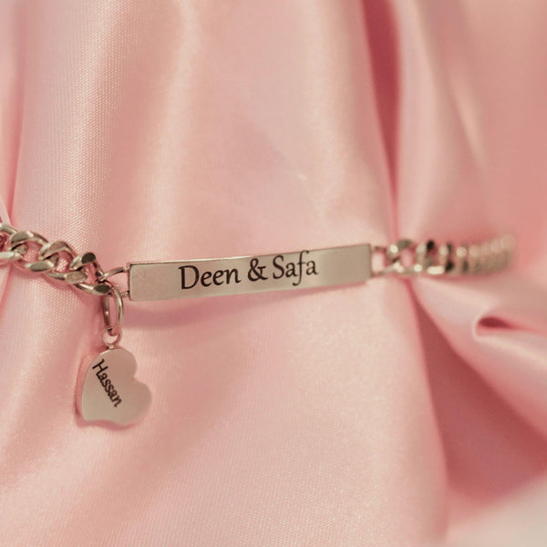 Personlized bracelet with love heart