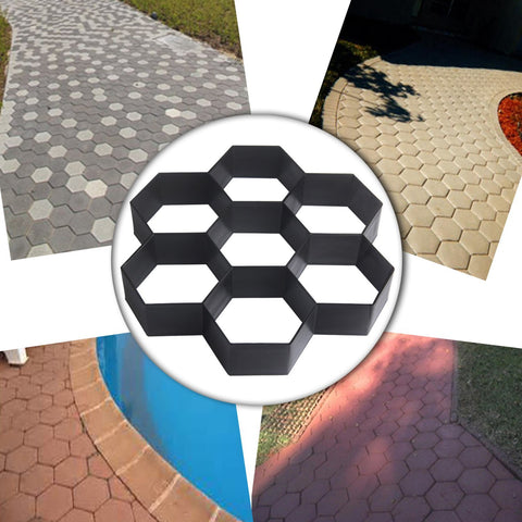 Honeycomb gardening paving mold