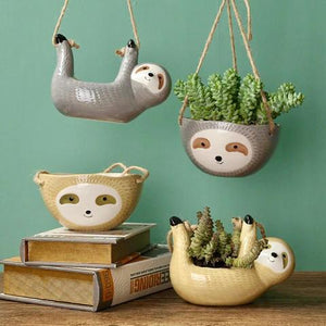 Hanging Sloth Pots