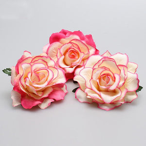 pink rose hair clip