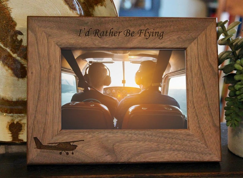Aviator Picture Frame, Custom Text