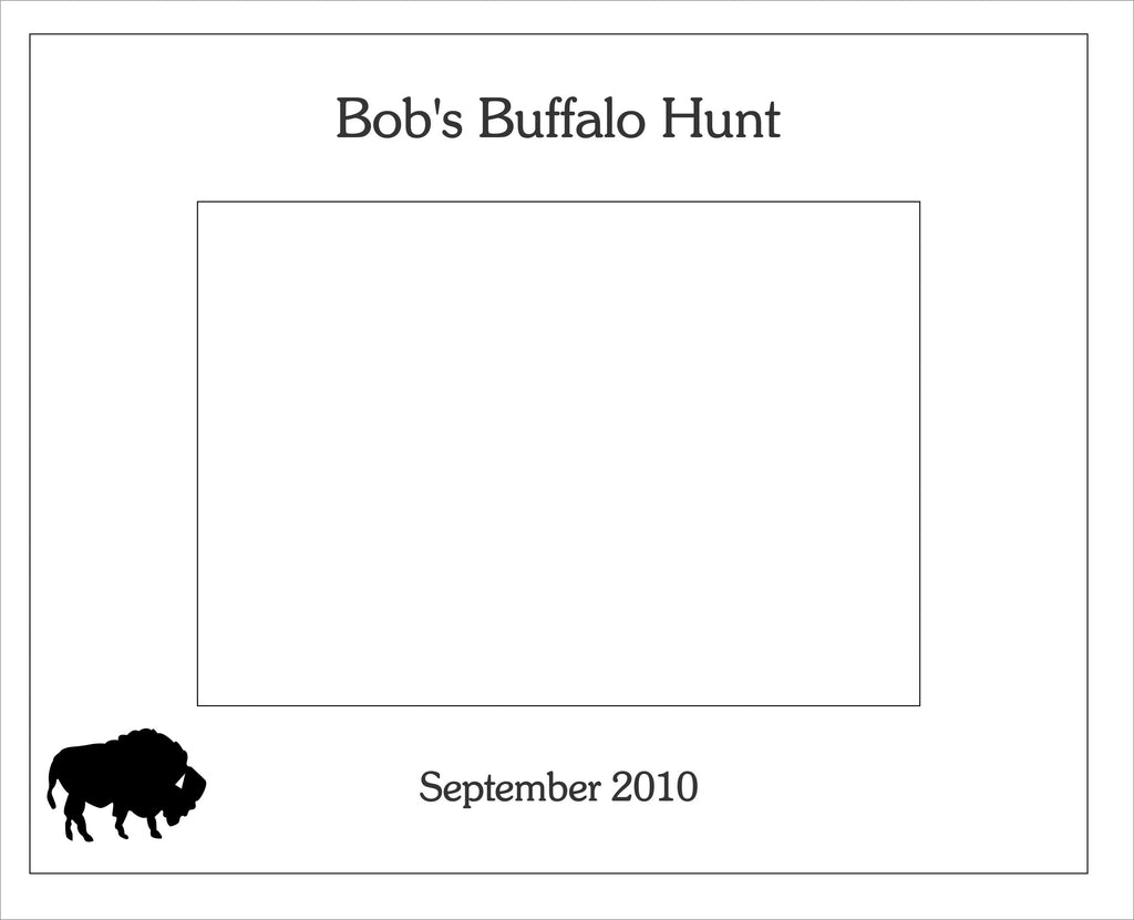 Buffalo Picture Frame, Custom Text
