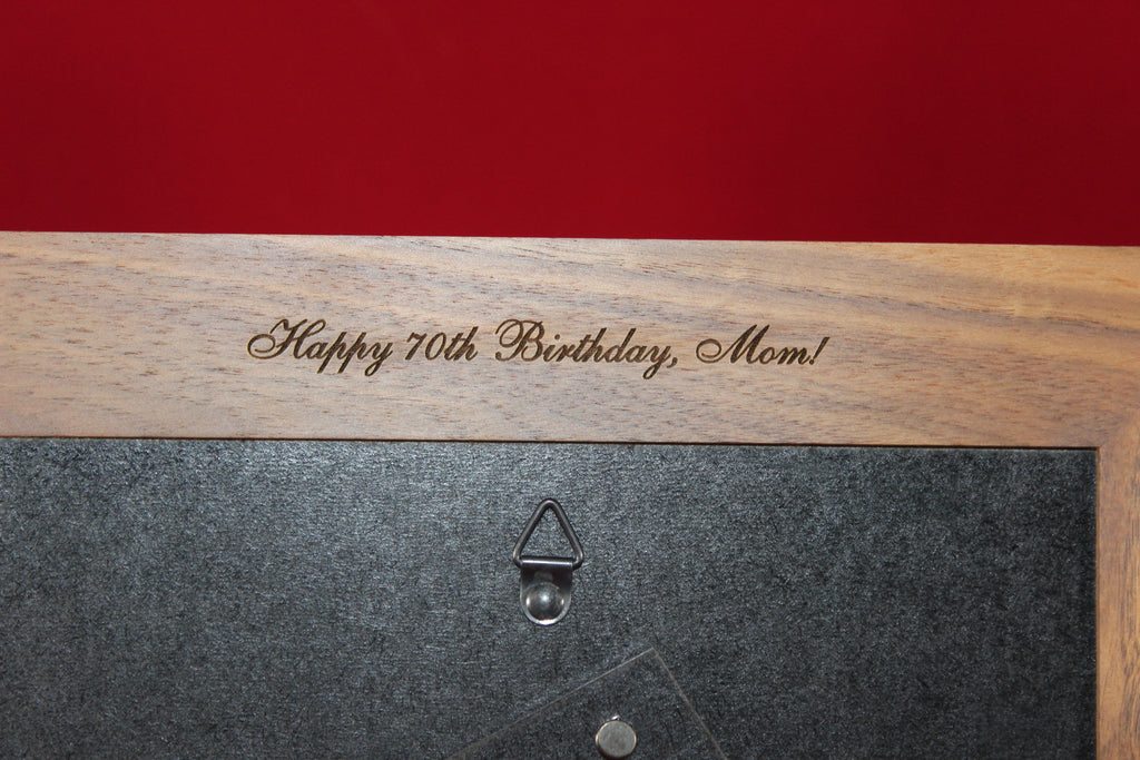 1st birthday frame back engraving option