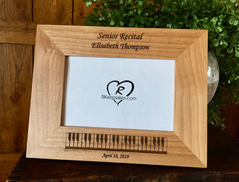 Piano Picture Frame, Custom Text