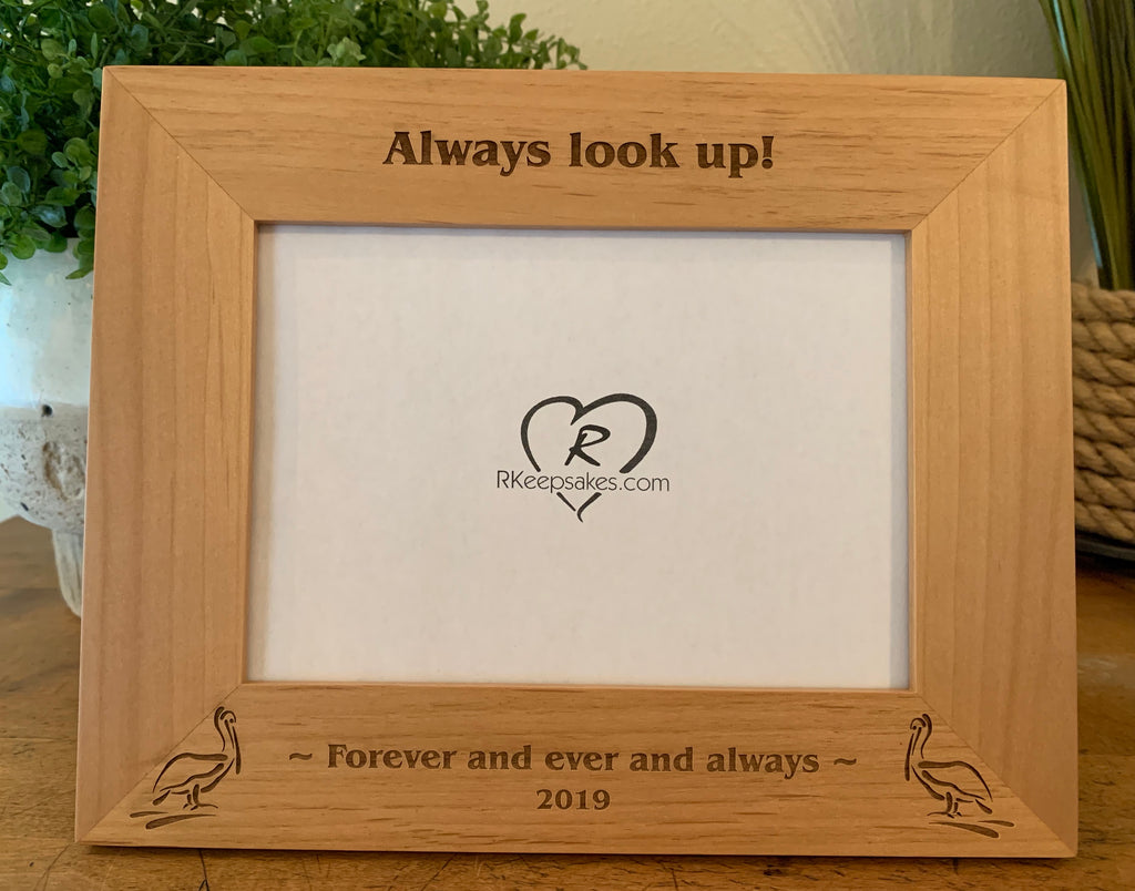 Pelican Picture Frame, Custom Text
