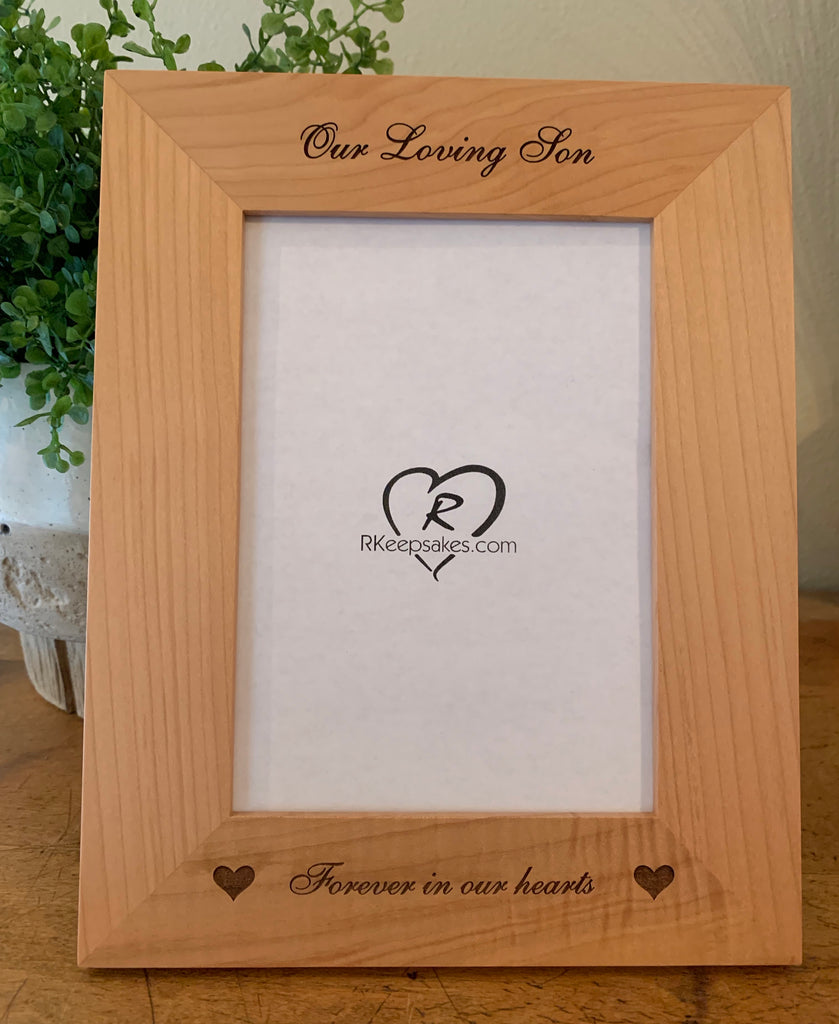 In Memory Picture Frame, Custom Text