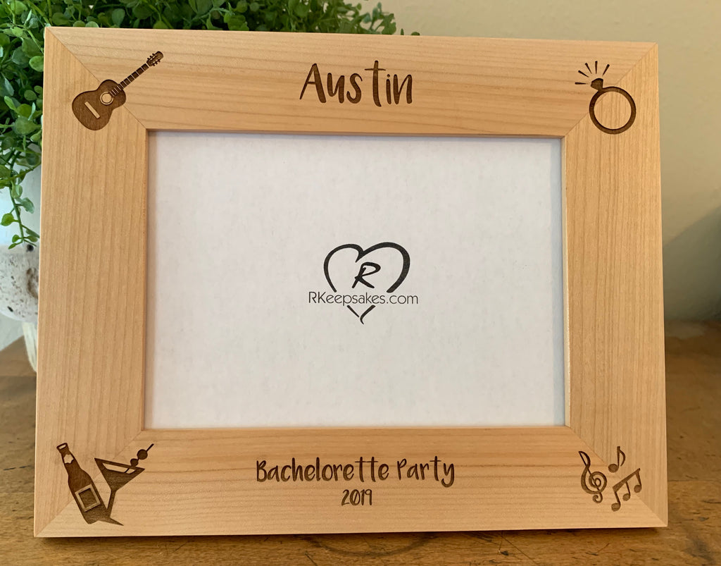 Bachelorette Picture Frame, Custom Text
