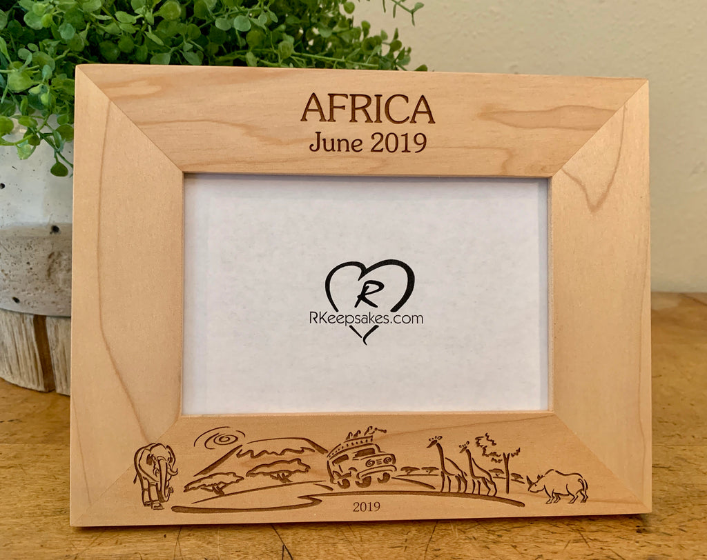 Africa Picture Frame, Safari, Custom Text