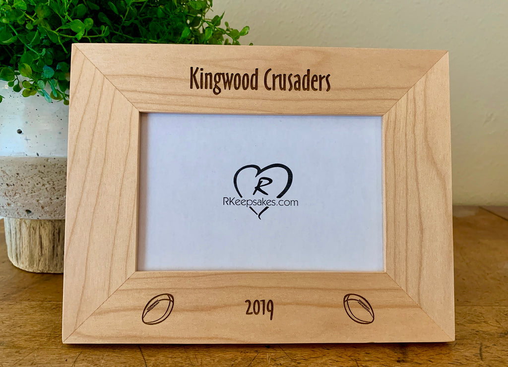 Rugby Picture Frame, Custom Text