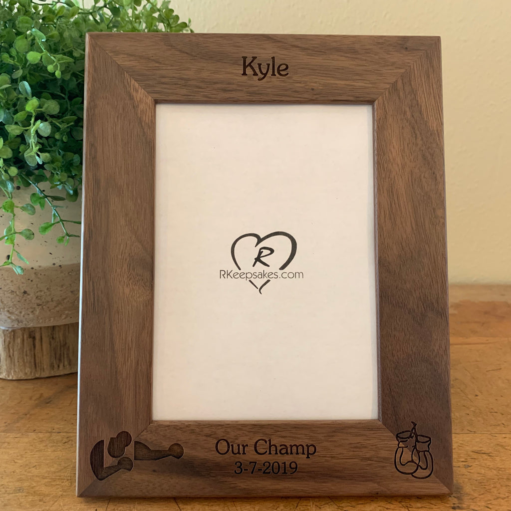 Boxing Picture Frame, Custom Text