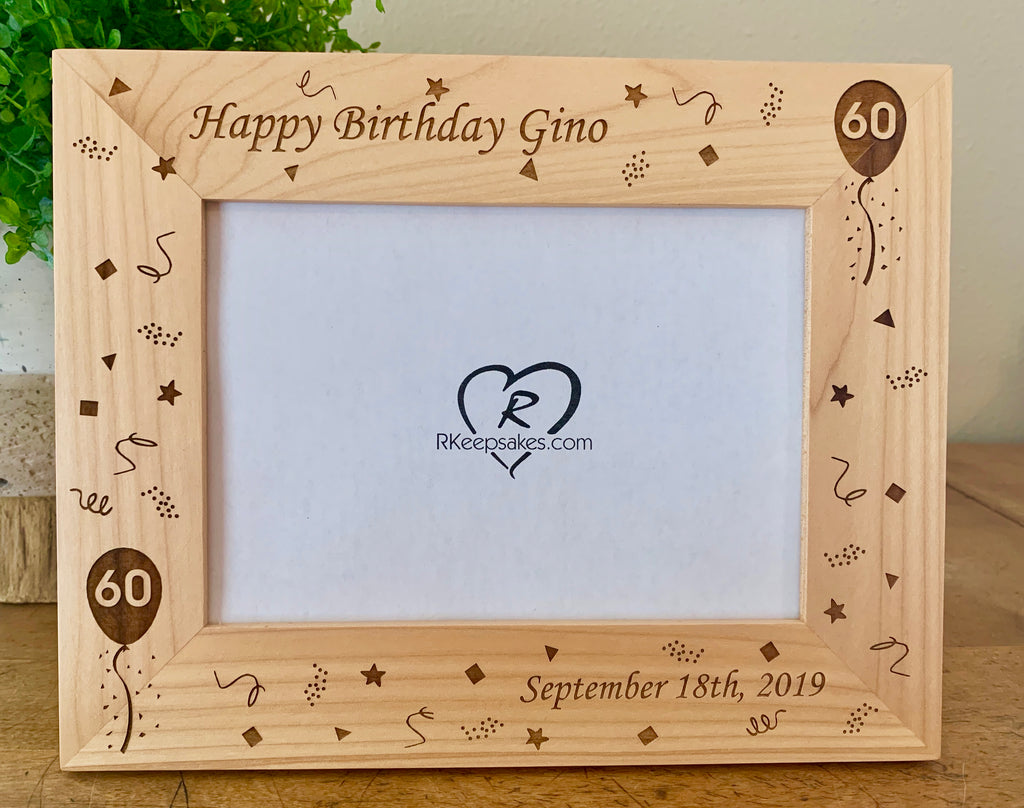 Birthday Picture Frame, Custom Text
