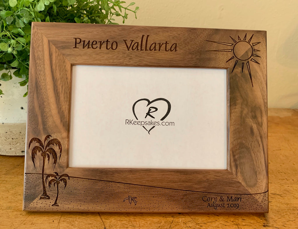 Beach Picture Frame, Custom Text