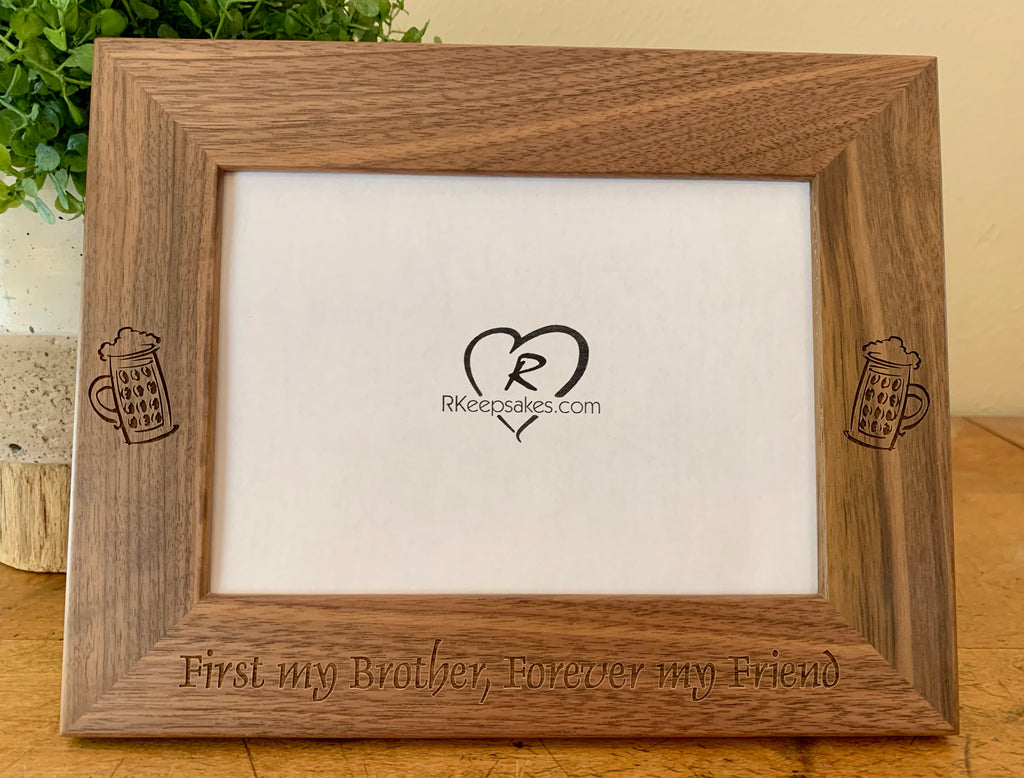 Beer Picture Frame, Custom Text