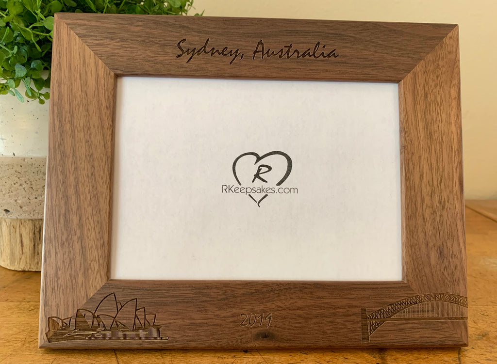 Australia Picture Frame, Sydney, Custom Text