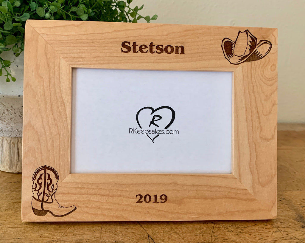 Western Picture Frame, Custom Text